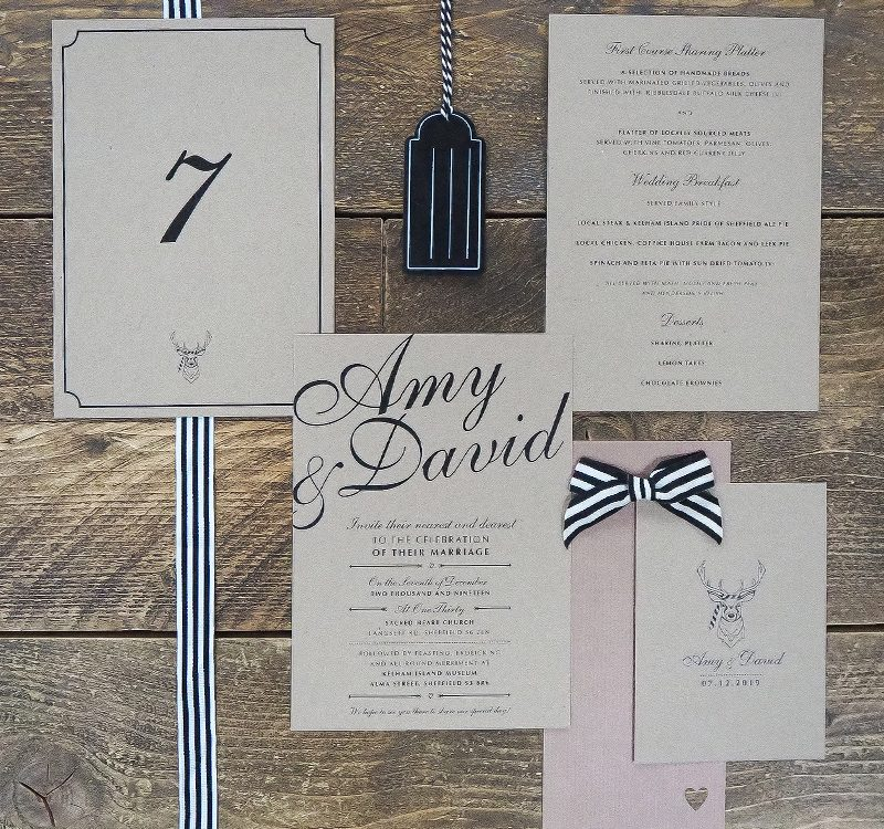 rustic inspired wedding invitations
