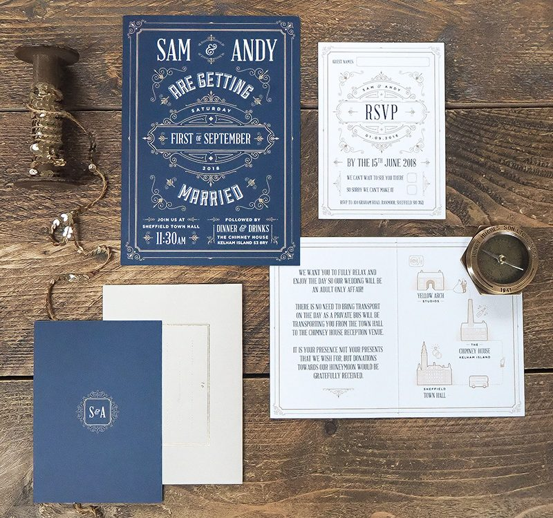 Gatsby Inspired Wedding Invitations